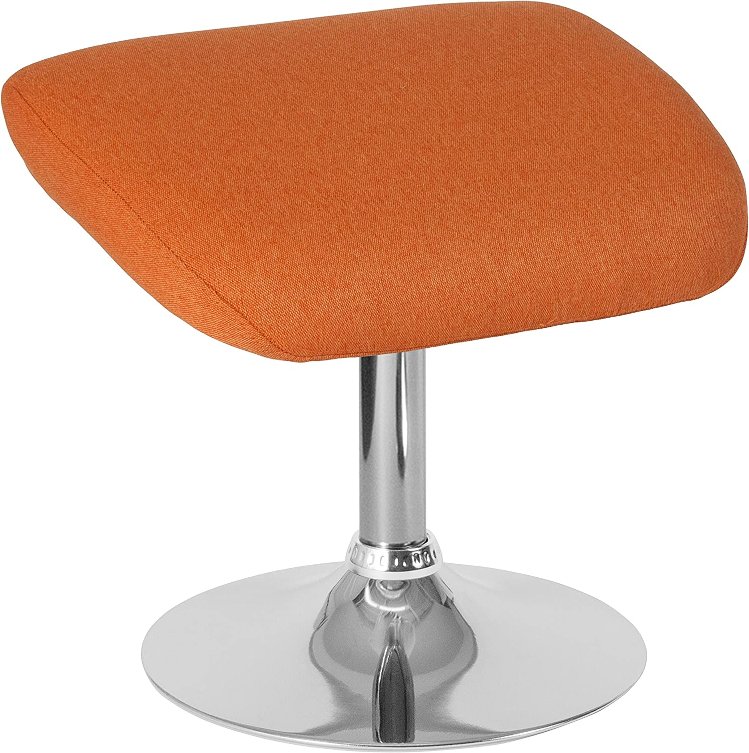 Flash Furniture Egg Series Orange Fabric Ottoman