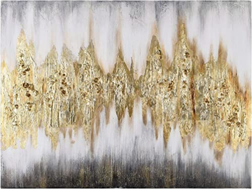 Empire Art Direct Gold Frequency Abstract Wall Art Textured Metallic Hand Painted Canva