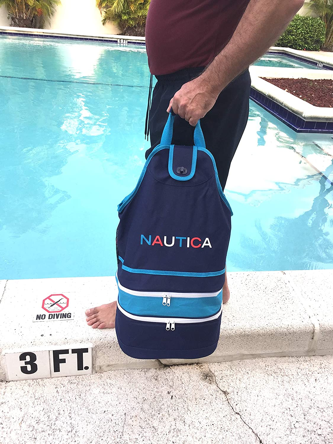 Nautica Beach back pack with cooler--three compartments