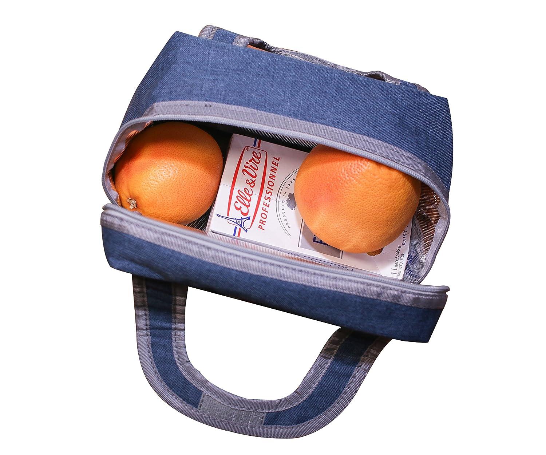 Bolsa T/érmica para Llevar Comidas Almuerzo Fiambrera Isotermica Porta Alimentos Nevera de Botella Bolsa Porta Alimentos Bolsas de Almuerzo