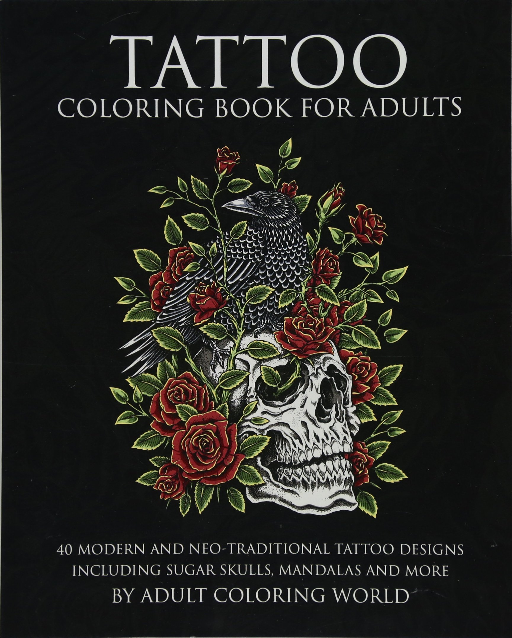 Amazon.com: Tattoo Coloring Book for Adults: 40 Modern and Neo ...