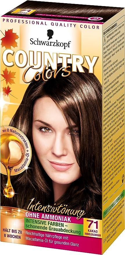 Colores país tinte Intensivo, 71 de cacao de color marrón ...