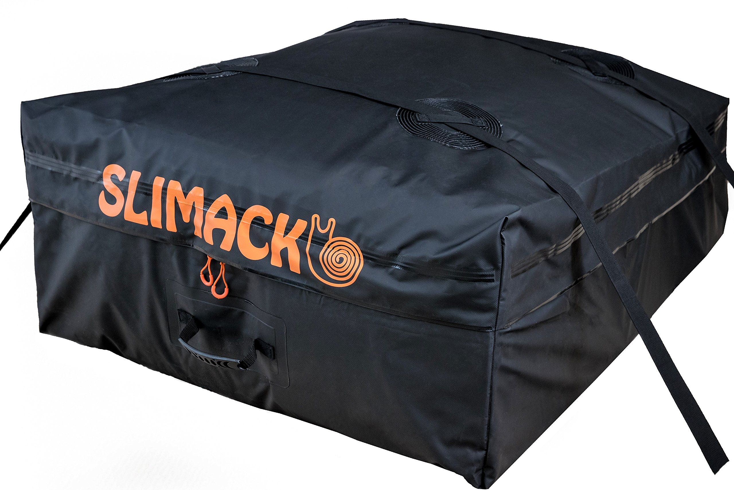 Rooftop Cargo Carrier Bag Waterproof Luggage Carrier For Cars Vans and SUVs Auto Roof Top Storage for Vehicles with or without Roof Racks Soft Travel Bag Protective Black Mat Included-13.5 Cubic Feet by Slimack