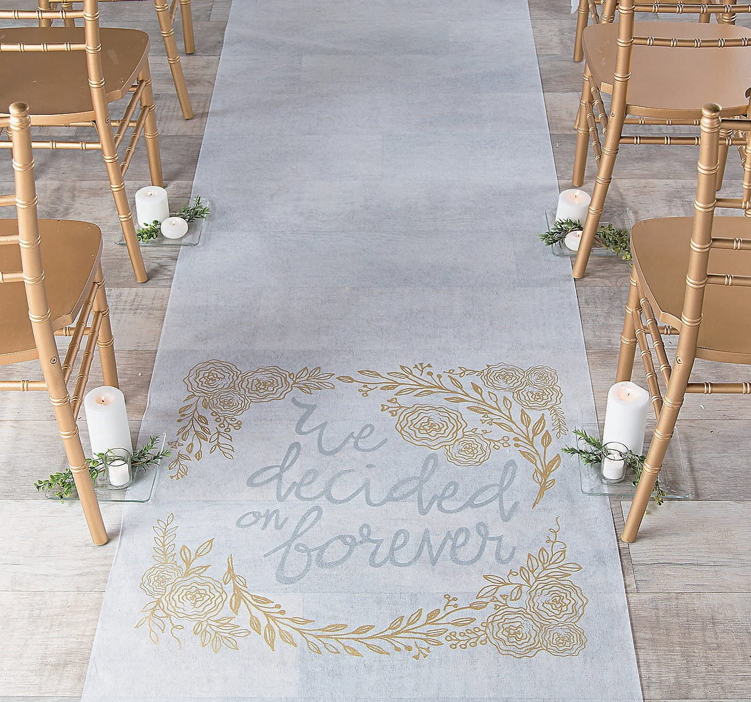 We Decided on Forever Aisle Runner Fun Express SG/_B079J5DYXZ/_US