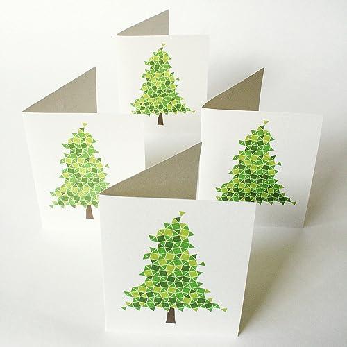 amazon com evergreen christmas cards set of 12 modern non