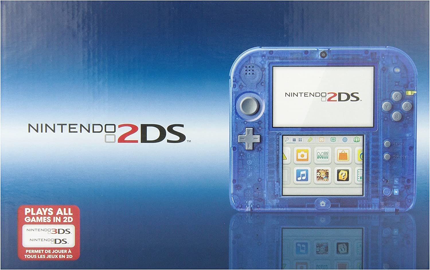 Amazon.com: Nintendo 2DS, color azul translúcido: Video Games