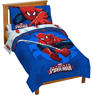 Amazon.com: Marvel Spider Man Toddler Bedroom Bundle Set 3D Bed ...