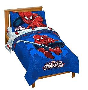Marvel Spiderman 'Regulator' Toddler 4 Piece Bed Set