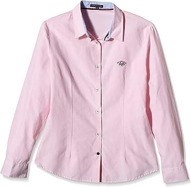 Spagnolo Blusa Oxford Trotta 3380 Camisa, Rosa, XS para Mujer ...