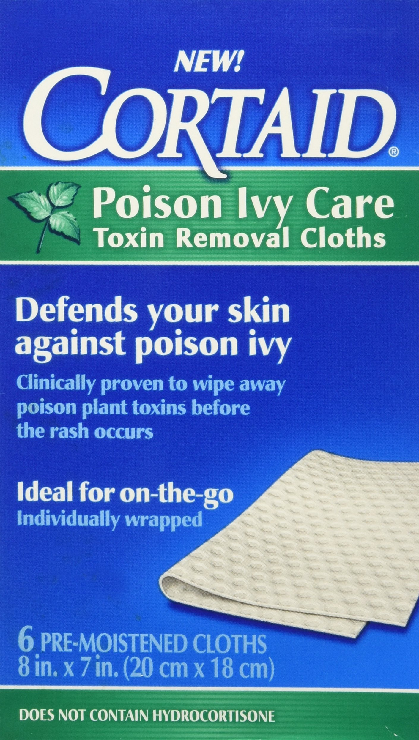 Cortaid Poison Ivy Care Toxin Removal Cloths 6 ea by J&J HEALTHCARE.