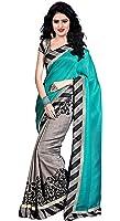Trendz Women's Cotton Silk Saree With Blouse Piece (Tz_Dolly_Sky_Sky Blue)