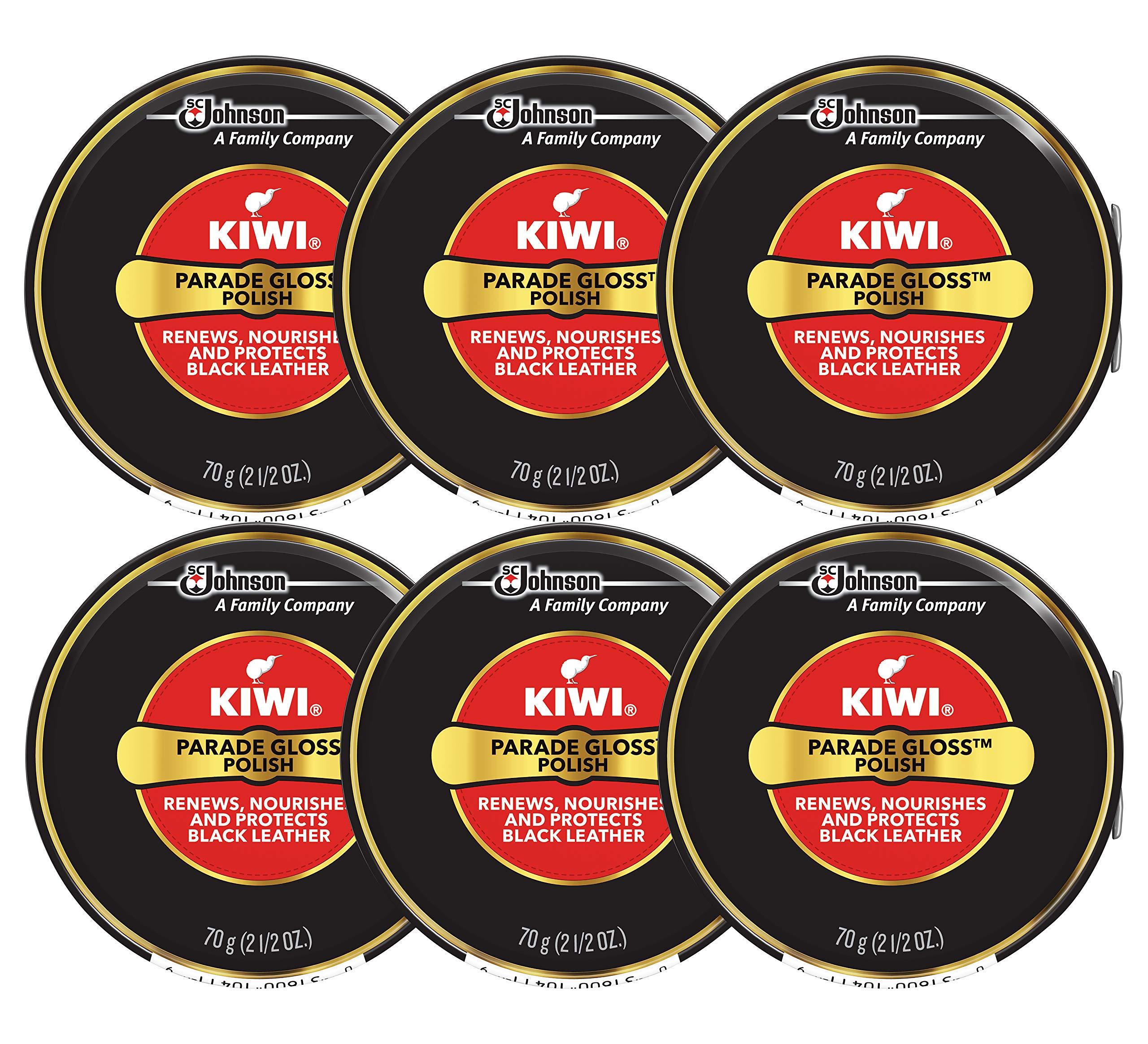 Kiwi Parade Gloss Shoe Polish - Negro - 2.5 Oz. - Grande