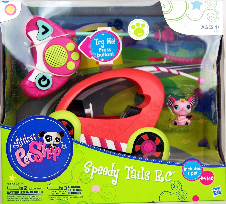 Littlest Petshop - 32860 - Speedy Tails RC - Voiture à Télécommande - Comprend Animal N°2165 Souris