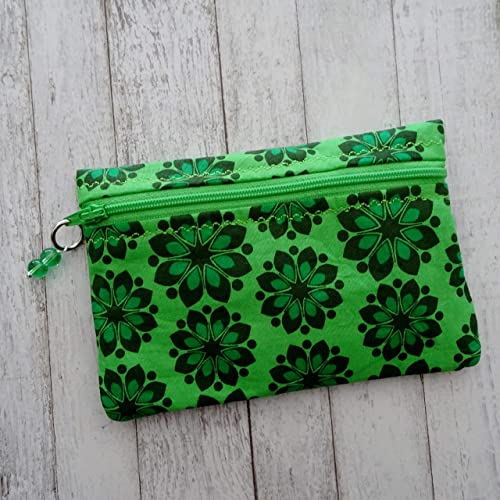 Upcycled fabric pouch Eco friendly gift Coin pouch