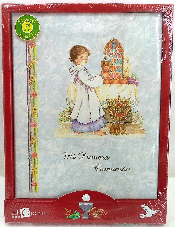 Edicromo Mi Primera Comunión, Libro de firmas. Musical. con Porta CD. Nácar. Medidas: 24x30x2,5 cms..: Amazon.es: Juguetes y juegos