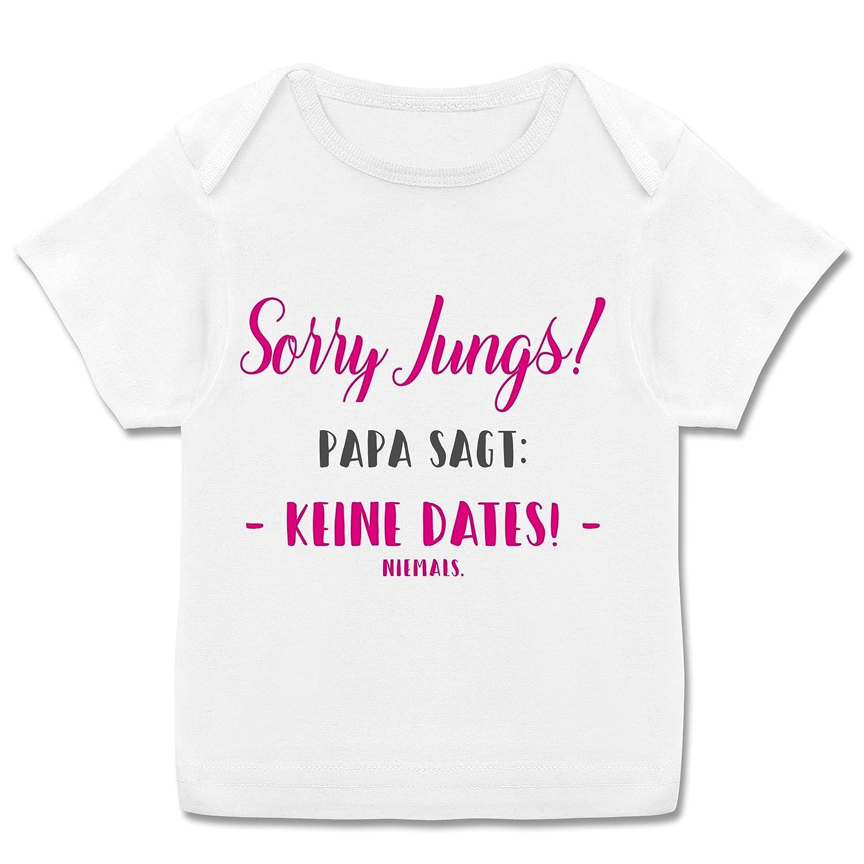 Spr/üche Baby Sorry Jungs Papa SAGT Keine Dates Kurzarm Baby-Shirt f/ür Jungen und M/ädchen