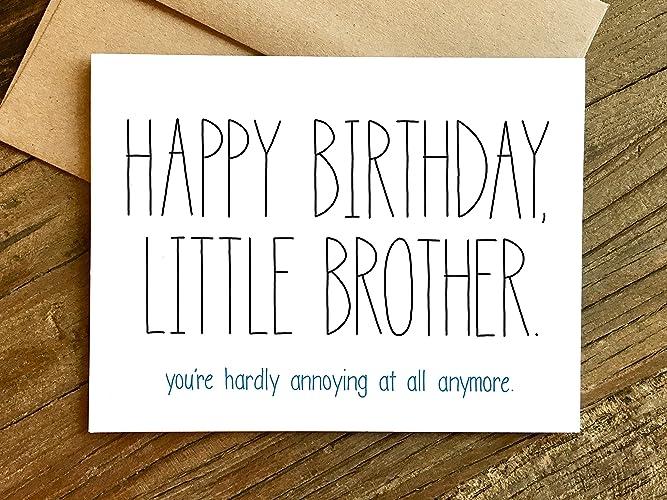 Amazon Little Brother Birthday Card Handmade