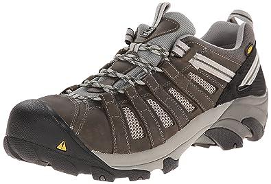 8f9d09436a7 KEEN Utility Men's Flint Low ESD M Steel Toe Work Boot, Gargoyle/Forest  Night
