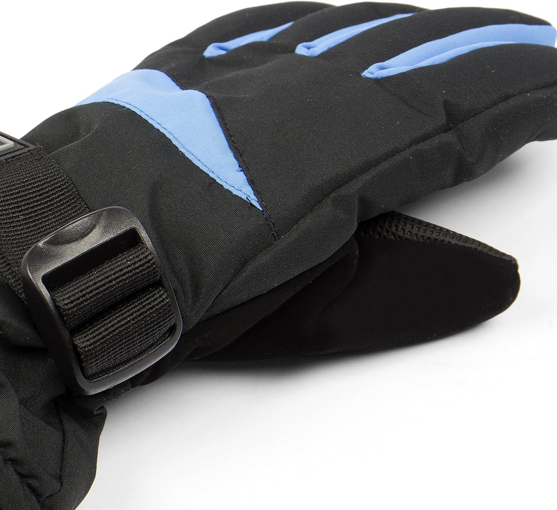 Winterhandschuhe Handschuhe Super Warm Fleecestoff Rot Schwarz Gr 8 NEU TOP