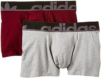 Adidas Boxershorts Originals Slim Boxer 2P B - Ropa Interior Deportiva para Hombre, Color Gris