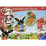 Ravensburger Bing Bunny 4 Shaped Jigsaw Puzzles (10,12,14,16pc)