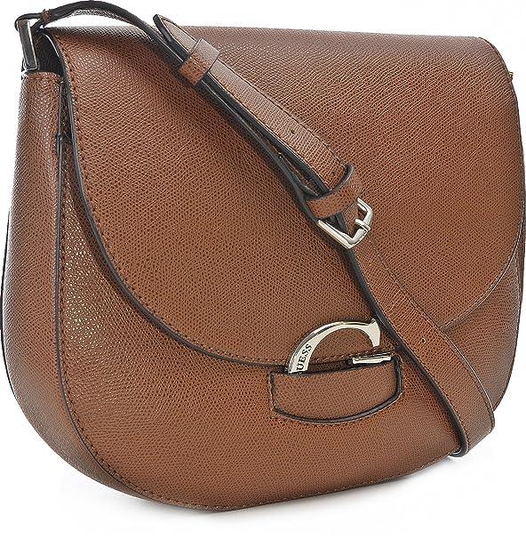 GUESS Lexxi Saddle Bag Cognac: Amazon.it: Scarpe e borse