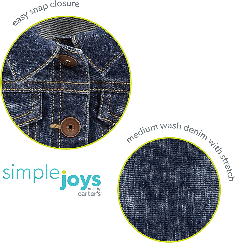 Simple Joys by Carters Giacca di Jeans Bimba 0-24