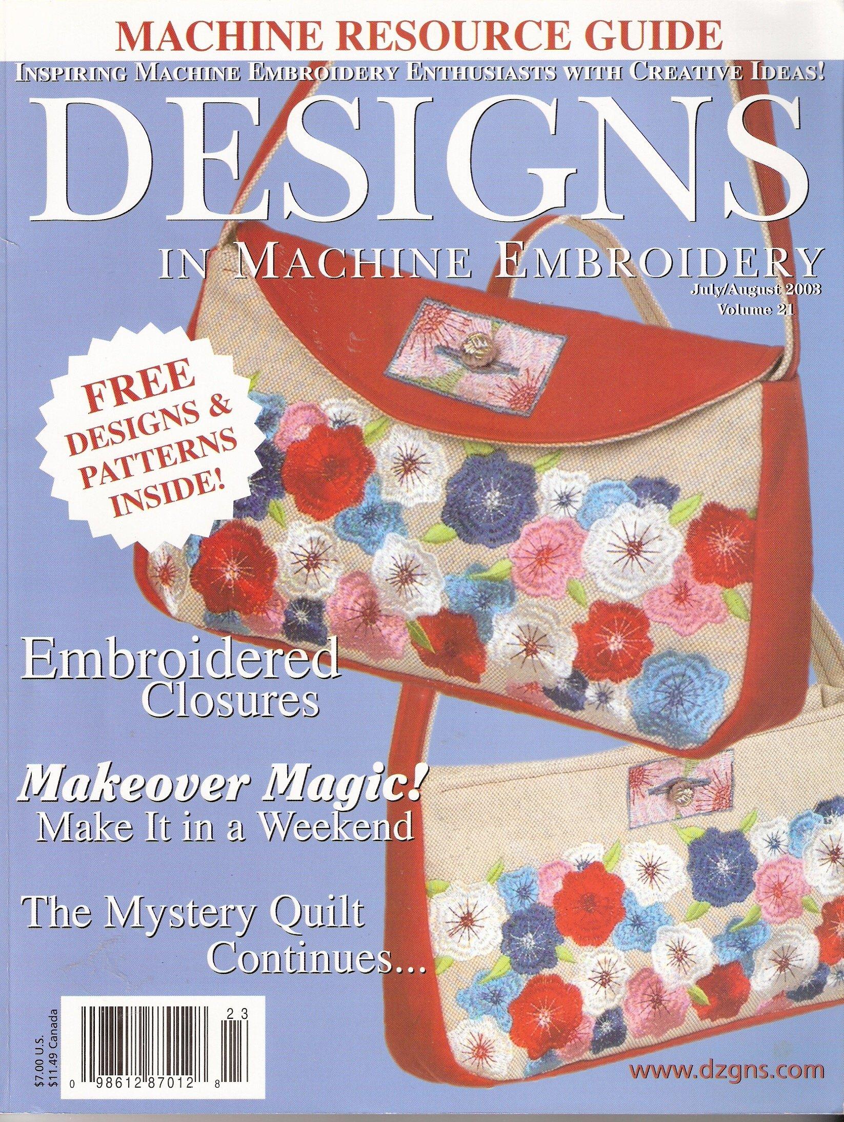 Designs In Machine Embroidery 21 Amazon Books