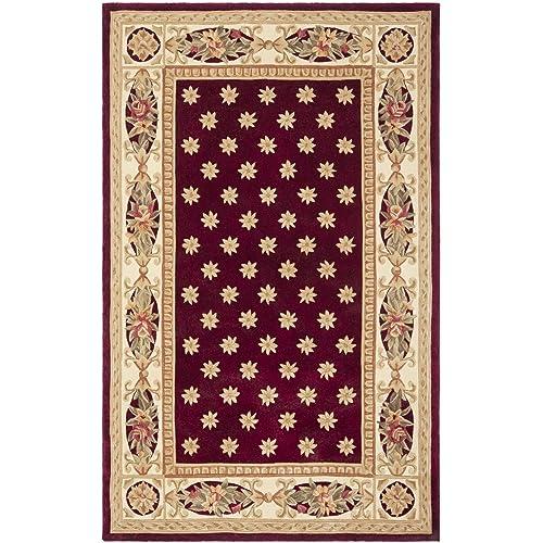 Safavieh Naples Collection NA610C Handmade Multicolored Wool Area Rug, 5 feet by 8 feet 5 x 8