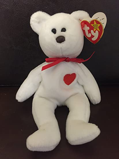 126432acf97 Image Unavailable. Image not available for. Color  RARE Retired   quot Valentino Bear quot  Ty Beanie Babies ...