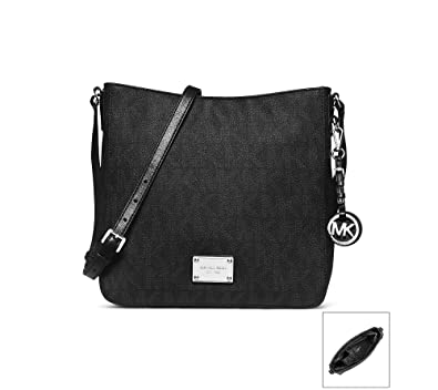 bb42cb11f6423 Amazon.com  Michael Kors Jet Set Travel Messenger BLACK  Michael ...