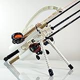 Rod-Runner Express Fishing Rod Rack - White | Portable Fishing Rod Holder Caddy
