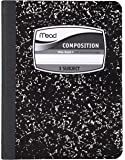 Mead Composition Notebook, 3 Subject, Black Marble, 9.75 x 7.5 Inches (09946)