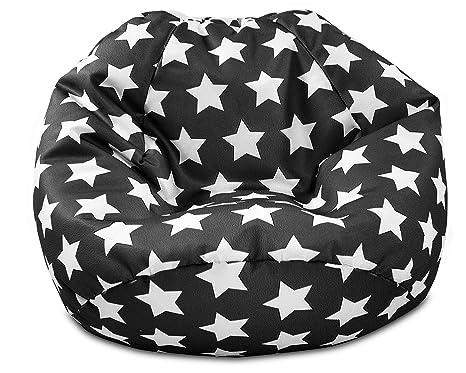 Admirable Gilda Childrens Beanbag Kids Prints Bean Bag Chair Seat Graphite Stars Cjindustries Chair Design For Home Cjindustriesco