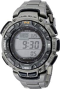 Casio Men's PAG240T Pathfinder Triple-Sensor Stainless Steel Watch