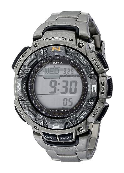 Casio PAG240T-7CR - Reloj de Pulsera Hombre, Titanio, Color Plata: Casio: Amazon.es: Relojes
