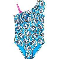 Traje de baño de una Pieza para niñas, Traje de baño Tropical con Volantes Florales, Traje de baño de Playa para niños…