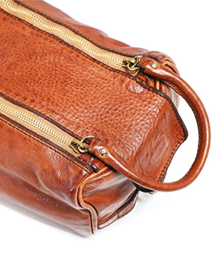 96f794a4476b Amazon.com: Campomaggi Men's Leather Wash Bag Cognac One Size: Clothing