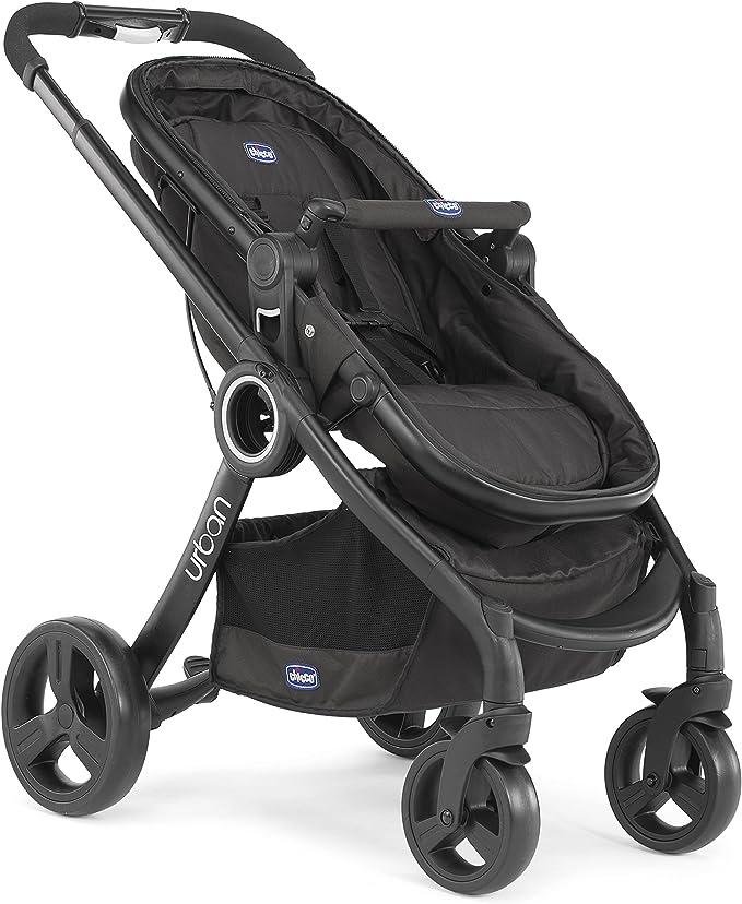 Chicco Urban Plus - Carrito transformable en capazo y silla de paseo, 7,6 kg, color negro: Amazon.es: Bebé