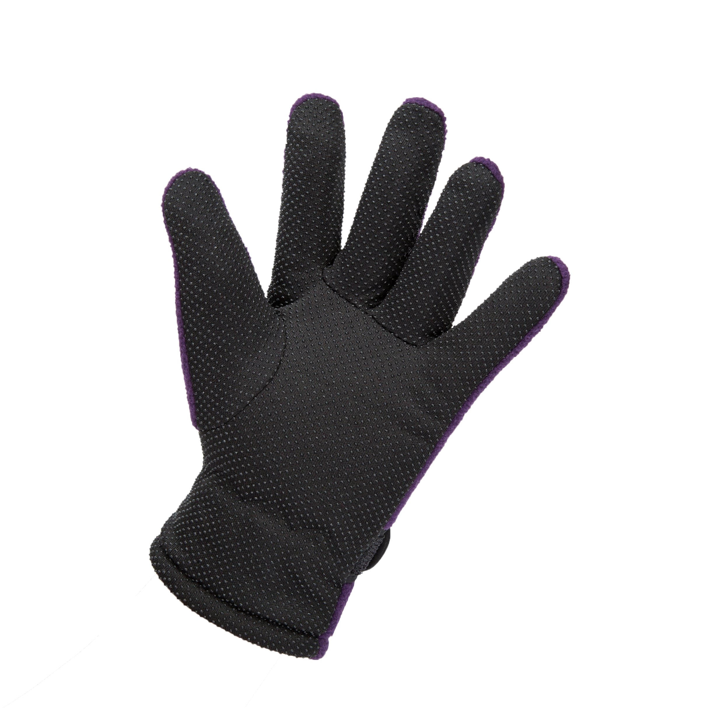 Black Boy girls Women Winter Gloves Anti Slip Fleece Lining For Hiding Snowboard Driving Ski by KimmyKu (Image #3)