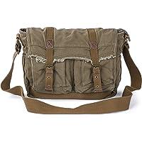 Gootium Canvas Messenger Bag - Vintage Shoulder Bag Frayed Style Satchel