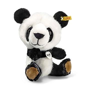 f7eeb9542104b2 Steiff 064845 Tom Panda Plüsch sitzend weiß schwarz 22 CM  Amazon.de   Spielzeug
