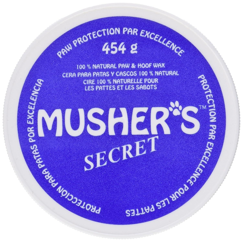 Musher's Secret Pfotenschutz, Schutz der Pfoten vor Sand / heißem Asphalt / Eis / Salz, wie unsichtbare Schuhe, 100 % auf Wachs basierende Creme Geeignet für Hunde, die keine Schuhe tragen wollen. Gewicht: 454 g