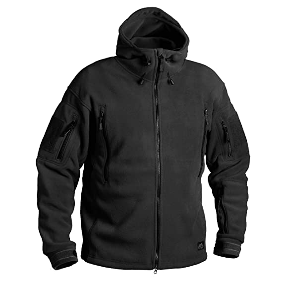 Helikon-Tex Patriot Jacke -Double Fleece- Schwarz  Amazon.de  Sport    Freizeit e700f1bd31