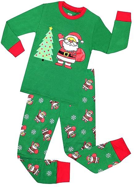 shelry boys santa christmas pajamas girls cotton clothes kids pjs toddler sleepwear pants set size 2