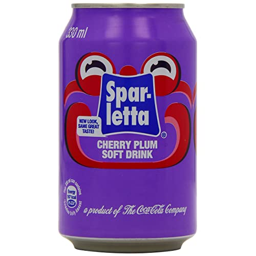 Sparletta Cherry Plum Soft Drink 330 ml (Pack of 12)