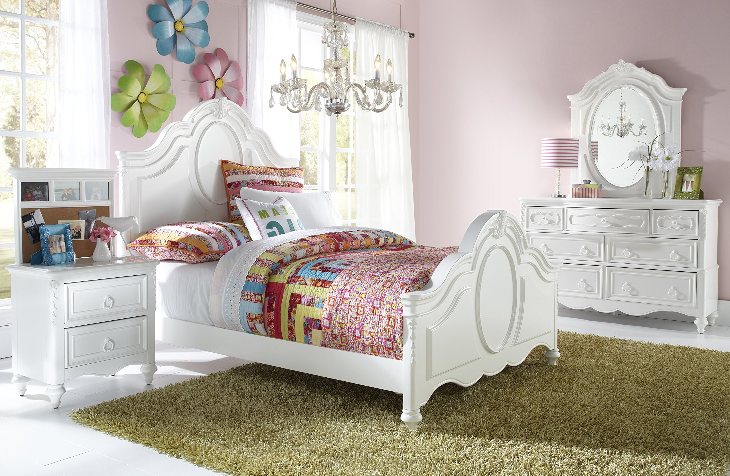 Pulaski Princess Youth 4 Piece Panel Bedroom Set, Twin