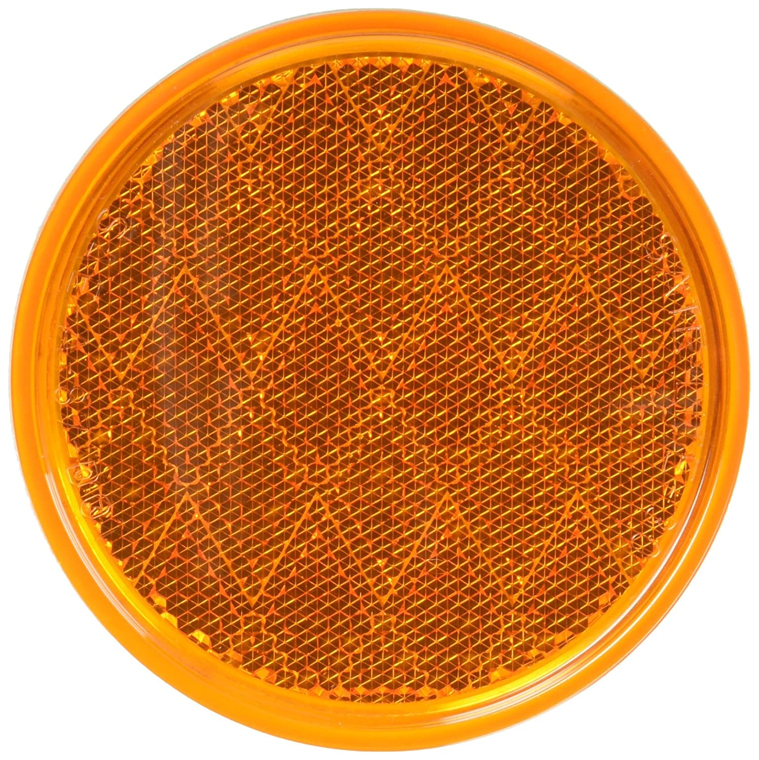 Peterson Manufacturing V475A Amber 3-3//16 Round Reflector