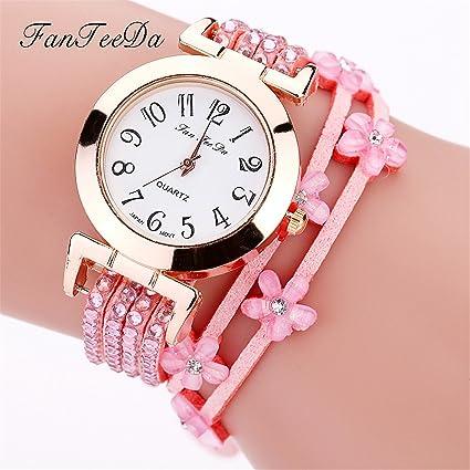 Longra Reloj Mujer, Reloj de Pulsera Brazalete Mujer Cuarzo Reloj de Pulsera del Retro del