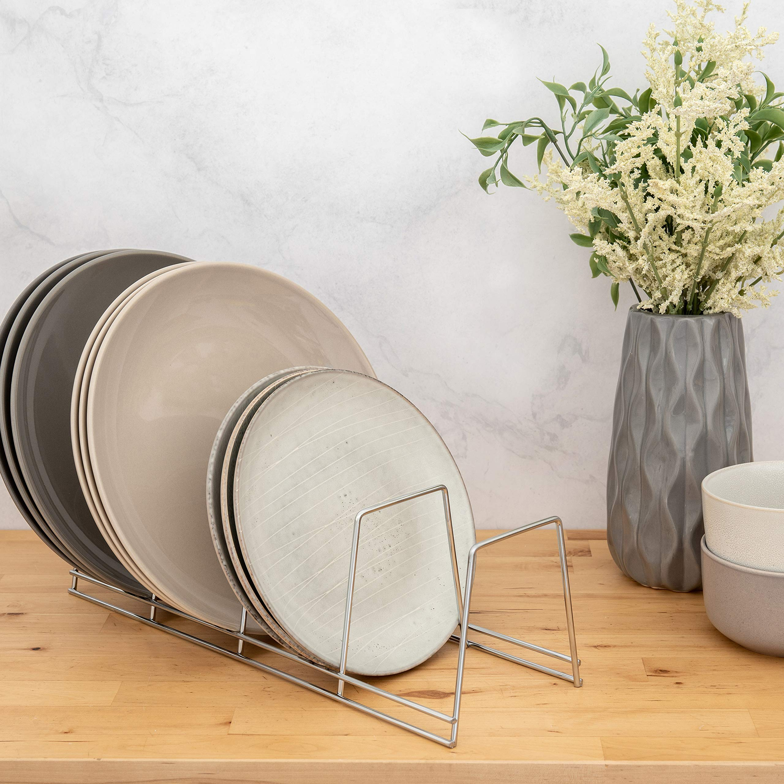 Better Houseware 4-Section Plate Rack, Large, Chrome by Better Houseware (Image #2)